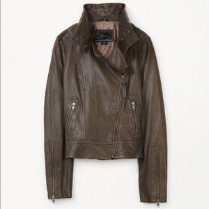 Mackage for Aritzia Kenya Brown Leather jacket
